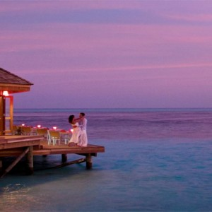 Vilamendhoo Island resort and spa - Luxury Maldives Honeymoon Packages - Asian Wok deck