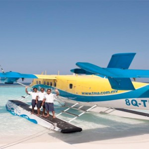 Vilamendhoo Island resort and spa - Luxury Maldives Honeymoon Packages - seaplane