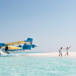 Vilamendhoo Island resort and spa - Luxury Maldives Honeymoon Packages - seaplane1