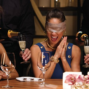 dinner in the dark - Breathless Cabos San Lucas - Luxury Mexico Honeymoon Packages