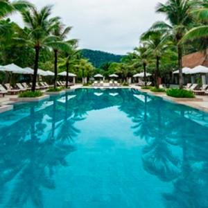 infinity pool 3 - Layana Resort Koh Lanta - luxury thailand honeymoon packages