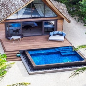 Beach Villa with Pool 5 - st regis maldives vommuli - luxury maldives holidays