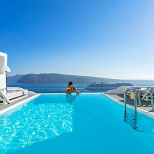 Charisma Suites Santorini - Luxury Greece Honeymoon packages - Pool with a view