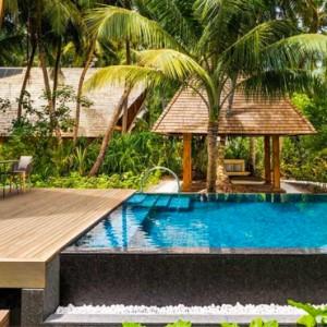 Garden Villa with Pool - st regis maldives vommuli - luxury maldives holidays