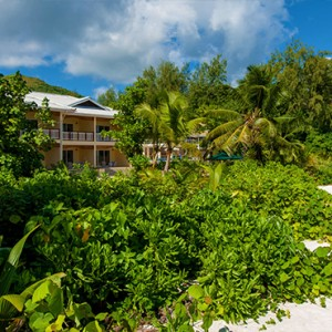 Acajou Beach Resort - Luxury Seychelles Honeymoon Packages - hotel exterior