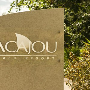 Acajou Beach Resort - Luxury Seychelles Honeymoon Packages - hotel name
