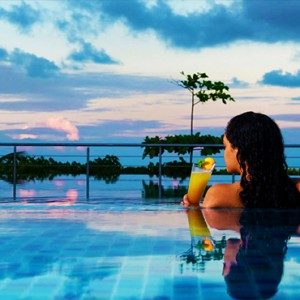 Acajou Beach Resort - Luxury Seychelles Honeymoon Packages - pool with a view