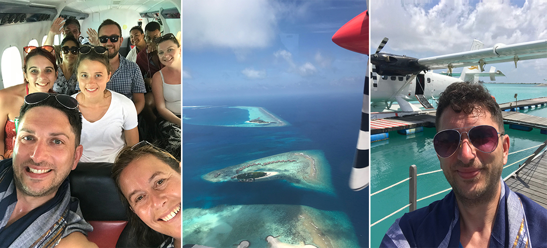 Leigh Maldives fam trip 2017 seaplane transfer