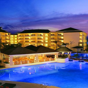 Sandals St James Montego Bay - Luxury Jamaica Honeymoon Packages - exterior at night