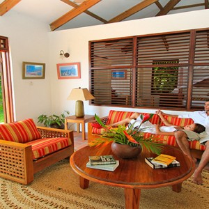 Southfield Estate Resort - Luxury St Lucia honeymoon Packages - One bedroom villa with hillside ocean view living area