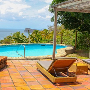 Southfield Estate Resort - Luxury St Lucia honeymoon Packages - One bedroom villa with hillside ocean view view