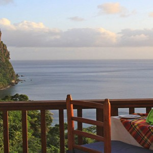 Southfield Estate Resort - Luxury St Lucia honeymoon Packages - Restaurant views