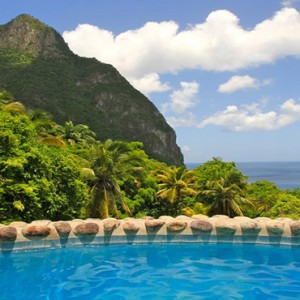 Southfield Estate Resort - Luxury St Lucia honeymoon Packages - couple in pool