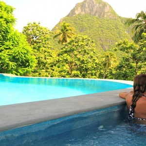 Southfield Estate Resort - Luxury St Lucia honeymoon Packages - couple in pool1