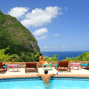 Southfield Estate Resort - Luxury St Lucia honeymoon Packages - pool and view