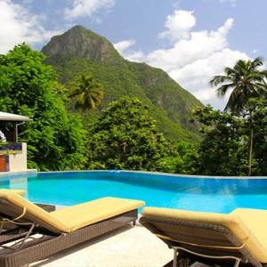 Southfield Estate Resort - Luxury St Lucia honeymoon Packages - room pool
