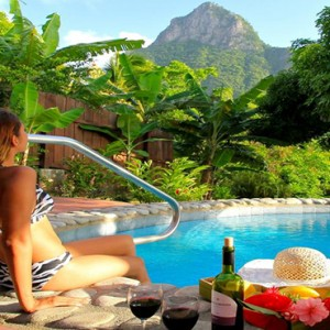 Southfield Estate Resort - Luxury St Lucia honeymoon Packages - room pool with views