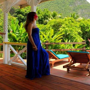 Southfield Estate Resort - Luxury St Lucia honeymoon Packages - woman looking at view