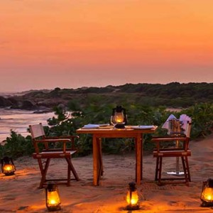 Uga Chena Huts Yala - Luxury Sri Lanka Honeymoon packages - Private dining