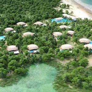 Uga Chena Huts Yala - Luxury Sri Lanka Honeymoon packages - aerial view