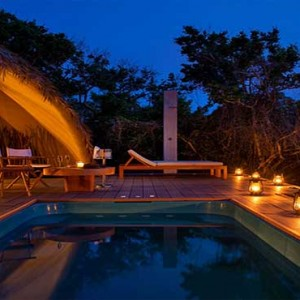 Uga Chena Huts Yala - Luxury Sri Lanka Honeymoon packages - cabin at night