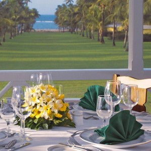 dining - nisbet plantation beach club - luxury st kitts and nevis honeymoon packages