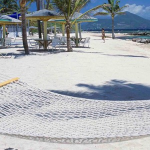hammock on the beach - nisbet plantation beach club - luxury st kitts and nevis honeymoon packages