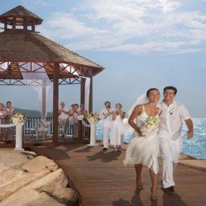 Jamaica Honeymoon Packages Secrets St James Montego Bay Wedding Couple Gazebo