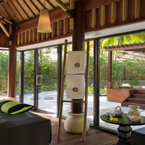 Angsana Ihuru Island - Luxury Maldives Honeymoon Packages - Couple massage room