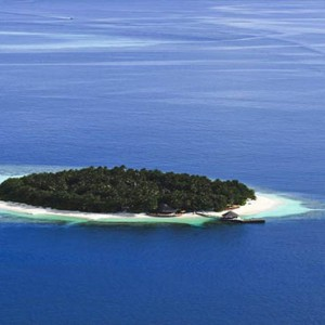Angsana Ihuru Island - Luxury Maldives Honeymoon Packages - aerial view