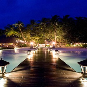 Angsana Ihuru Island - Luxury Maldives Honeymoon Packages - resort at night