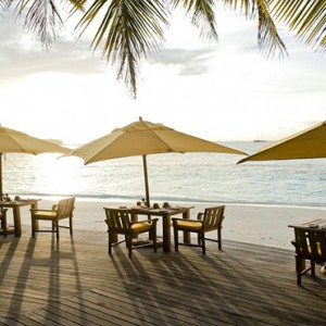 Angsana Ihuru Island - Luxury Maldives Honeymoon Packages - restaurant with a view