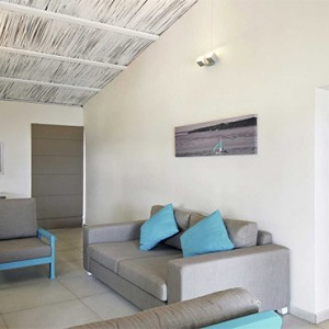 Astroea beach - Luxury Mauritius Honeymoon Packages - Bungalow Living room