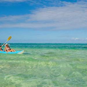 Astroea beach - Luxury Mauritius Honeymoon Packages - watersport activities - kayaking