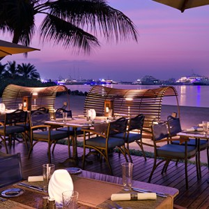Beach Bar & Grill - One and Only Royal Mirage - Luxury Dubai Honeymoon Packages