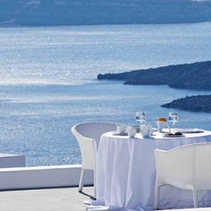 Cliff Side Suites Santorini - Luxury Greece Honeymoon Packages - Dining