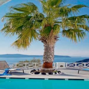 Cliff Side Suites Santorini - Luxury Greece Honeymoon Packages - Pool bar