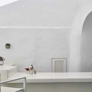 Cliff Side Suites Santorini - Luxury Greece Honeymoon Packages - Pool bar interior