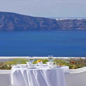 Cliff Side Suites Santorini - Luxury Greece Honeymoon Packages - breakfast and dining