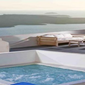 Cliff Side Suites Santorini - Luxury Greece Honeymoon Packages - private pool