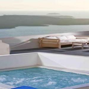 Cliff Side Suites Santorini - Luxury Greece Honeymoon Packages - private pool