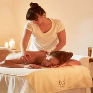 Cliff Side Suites Santorini - Luxury Greece Honeymoon Packages - spa massage