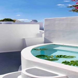 Cliff Side Suites Santorini - Luxury Greece Honeymoon Packages - suite pool