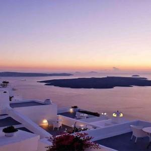Cliff Side Suites Santorini - Luxury Greece Honeymoon Packages - sunset view