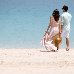 Dubai Honeymoon Packages Jumeirah Zabeel Saray Couples Romantic Stroll On Beach