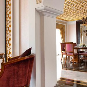 Dubai Honeymoon Packages Jumeirah Zabeel Saray Grand Imperial Suite Dining Room