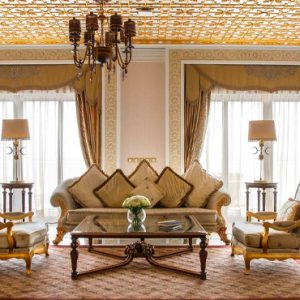 Dubai Honeymoon Packages Jumeirah Zabeel Saray Grand Imperial Suite Living Room