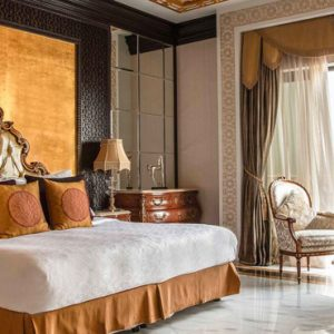 Dubai Honeymoon Packages Jumeirah Zabeel Saray Grand Imperial Suite Bedroom