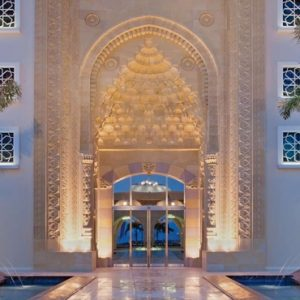 Dubai Honeymoon Packages Jumeirah Zabeel Saray Hotel Entrance