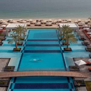 Dubai Honeymoon Packages Jumeirah Zabeel Saray Pool Overview